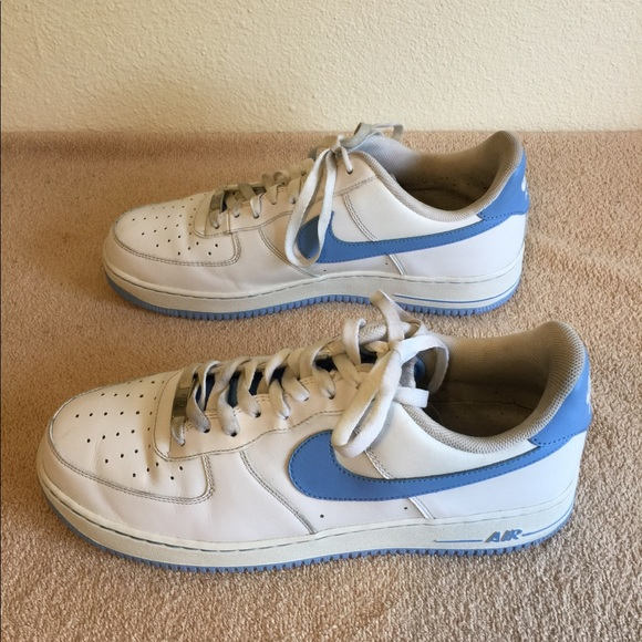 Nike Other - Nike Air Force 1 Leather Low Tops (White/Blue)